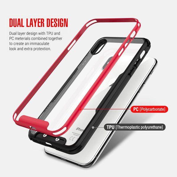 Zizo Fuse Case Etui ochronne iPhone Xs Max + szkło na ekran (czerwone/czarne) zdjęcie 4