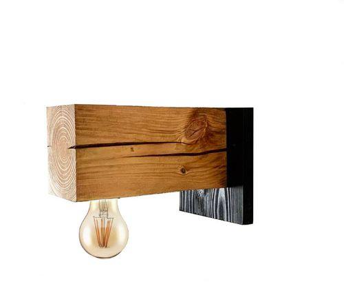 Kinkiet drewniany lampa loft loftowy scienna industrialna na Arena.pl