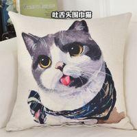 Poszewka na poduszkę - Kotki i Pieski Kotek z języczkiem 45x45cm