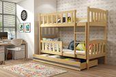 Łóżko piętrowe dla dzieci Kubuś 190x80 dziecięce + MATERAC + SZUFLADA zdjęcie 7
