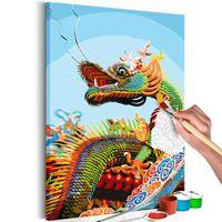 Obraz do samodzielnego malowania - Kolorowy Dragon