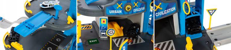 Składany parking garaż policyjny z autem łodzią policja Y188 zdjęcie 6