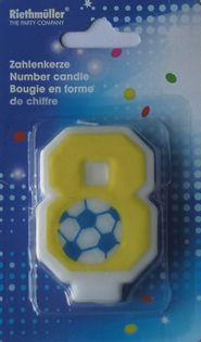 Świeczka cyferka 8 dla chłopca świeczki urodziny