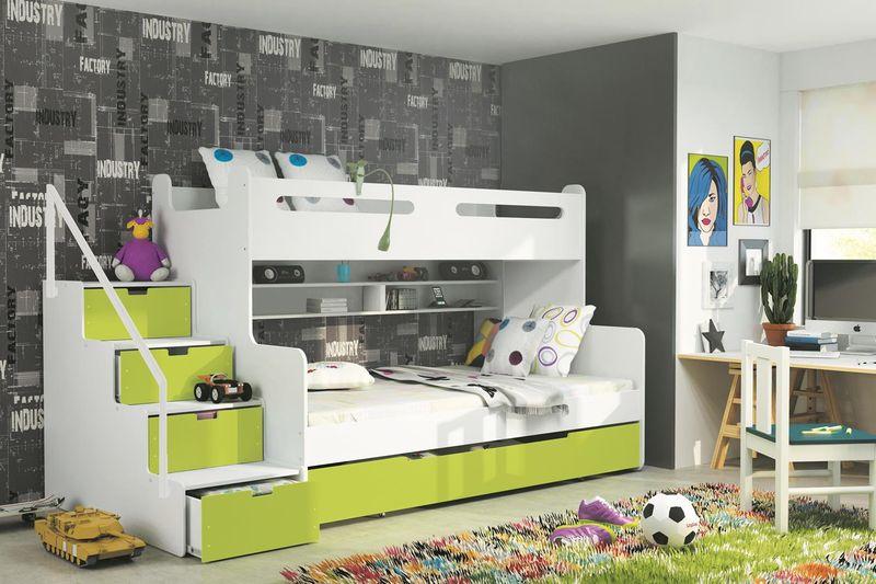 łóżko Piętrowe Trzyosobowe Dla Dzieci Max 3 Dziecięce 200x120