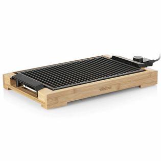 Lumarko Elektryczny grill z rusztem, 2000 W, 37 x 25 cm, bambus