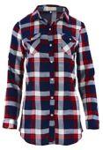 Tunika koszulowa w kratkę z kolnierzykiem Rozmiar - L