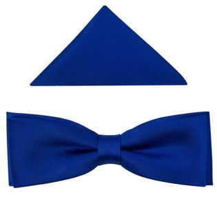 Niebieska/kobaltowa mucha męska SLIM B8