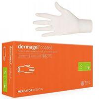 Rękawice DERMAGEL MERCATOR S lateksowe bezpudrowe rękawiczki 100szt.