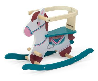 Koń na biegunach Lucky 12 Blue Milly Mally 3328