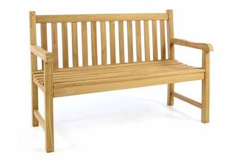 Ławka ogrodowa DIVERO - impregnowany tek - 130 cm