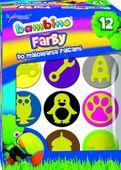 Farby do malowania palcami BAMBINO 12 kolorów