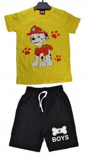 Komplet Psi Patrol żółty, bawełna roz.122