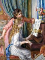 Reprodukcje obrazów Two Young Girls at the Piano - Auguste Renoir Rozmiar - 60x45