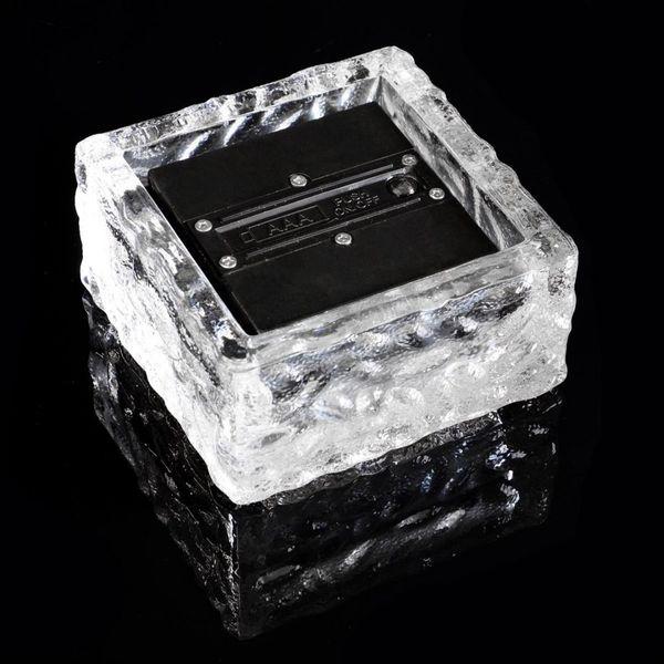 Lampki solarne LED w kształcie szklanej kostki brukowej, zestaw 5 szt. zdjęcie 1
