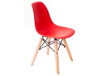 Krzesło CZERWONE dziecięce nowoczesne skandynawskie dsw dsr 071-1