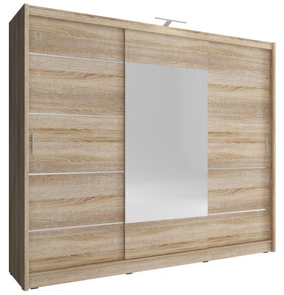Szafa AWENA PLUS 250cm,garderoba,lustro,sypialnia,przedpokój 4 kolory! zdjęcie 4