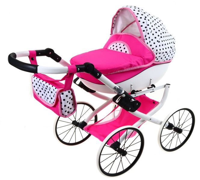 DUŻY Solidny POLSKI Wózek dla lalek lalkowy RETRO zdjęcie 5