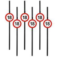 Słomki party 18 URODZINY Traffic Birthday 6 szt