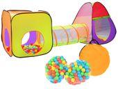 Namiot Domek Iglo z Tunelem dla Dzieci 3w1 + 200 Piłek 2880