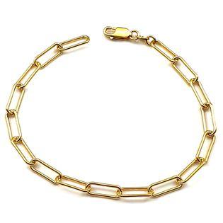 Modna bransoletka srebrna pozłacana 21 cm