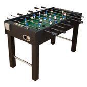 Piłkarzyki stół piłkarski MDF czarny 121 x 101 x 79 cm M01238