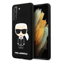 Karl Lagerfeld Fullbody Silicone Iconic - Etui Samsung Galaxy S21 (Czarny)