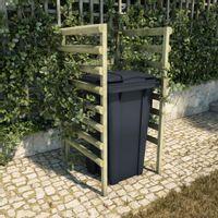 Lumarko Osłona na kosz na śmieci, zielona, 70x80x150 cm, drewno sosnowe!