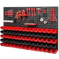 Tablica ścianka narzędziowa do garażu + 20 uchwytów, 2 półki, kuwety PRO-MIX60