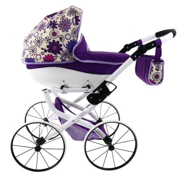DUŻY Solidny POLSKI Wózek dla lalek lalkowy RETRO zdjęcie 4