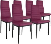 Zestaw 6 krzeseł Dankor Design brand fiolet