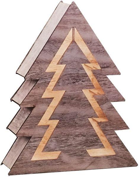 Ozdoba drewniana choinka LED 1j 35cm zdjęcie 5