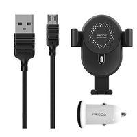 Proda Uchwyt+Ładowarka+kabel 10W QI PD-CH06 Black