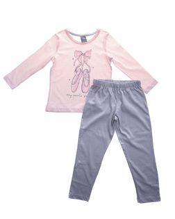 PEPCO Dziewczęca, dwuczęściowa piżama ze wzorem w baletki