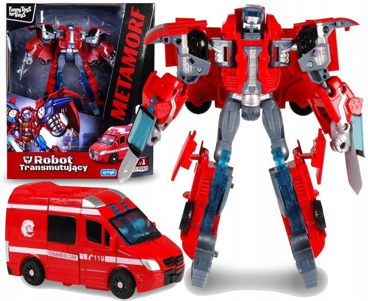 TRANSFORMER Robot AMBULANS Auto 2w1 Samochód ARTYK zdjęcie 1