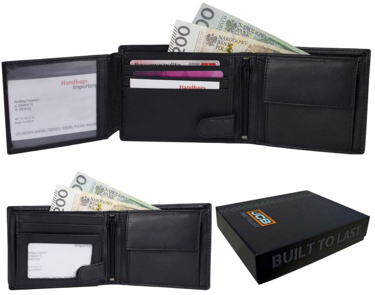 f78dfa6ee942f Elegancki portfel męski skóra naturalna RFID JCB53 Czarny Kolor: czarny  zdjęcie 1