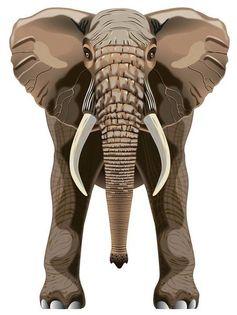 "Latawiec BRAINSTORM - WNS SkyZoo 40x30"" Nylon Elephant"