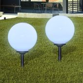 Zewnętrzne Lampy Solarne Led W Kształcie Kuli, 30 Cm, 2 Szt.
