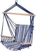 Krzesło Fotel hamak ogrodowy wiszący Pasy Niebieskie 100x65cm
