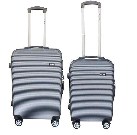 WALIZKA walizki kółka torba samolot ZESTAW M + L SIWA 1057+1058 zdjęcie 1
