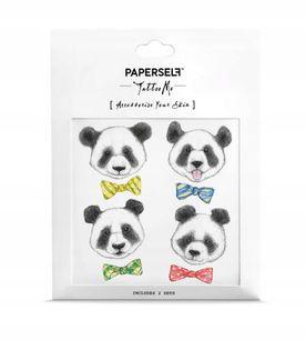 Paperself tatuaż wodny tymczasowy Pandas