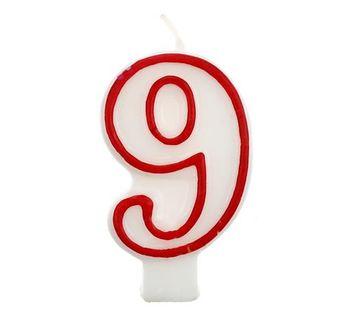 Świeczka na tort cyferka cyfry 9,1,2,3,4,5,6,7,8,0