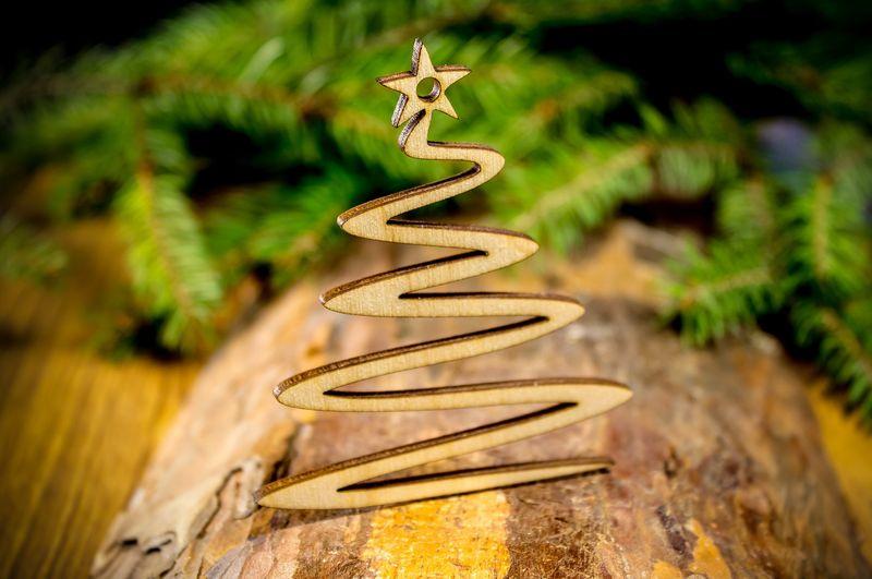 Decoupage Świąteczne CHOINKA Drewniana Zawieszka zdjęcie 1