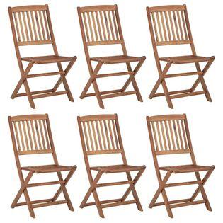 Lumarko Składane krzesła ogrodowe, 6 szt., lite drewno akacjowe