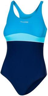 Kostium pływacki EMILY roz. 152-164 Rozmiar - Stroje dziecięce - 152, Kolor - Stroje damskie - Emily - 42 - granat / turkus / jasny turkus