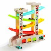 Drewniany Tor Wyścigowy Samochodzików Dzieci 30cm