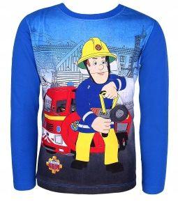 Bluzka Koszulka Strażak Sam Fireman 128 granatowa zdjęcie 2
