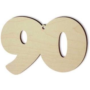 """Zawieszka drewniana """"Urodziny 90"""", 88 x 60 mm"""