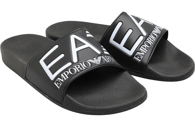 ddd2d465 Klapki Armani Emporio męskie buty EA7 sandały markowe na basen 41-46  zdjęcie 5