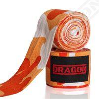 Dragon Sports bandaże bokserskie Camo 4 m pomarańczowe Rozmiar - 4 m