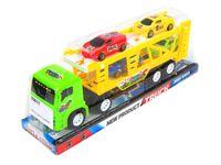 Duża Ciężarówka Laweta 4 Samochodziki Dzieci 30cm